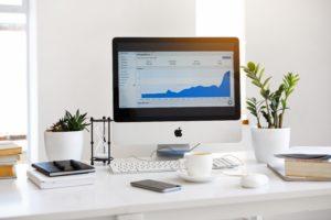Apple iMac on desk modern office