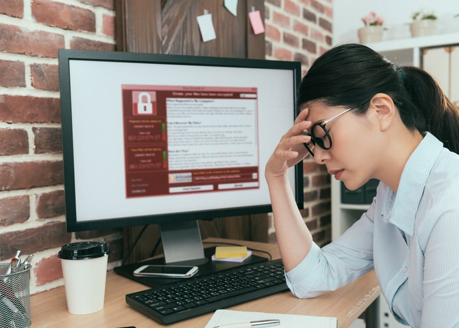 Frustrated Women at Computer