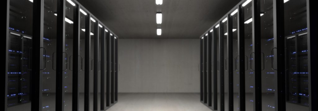 Data centre with servers that back up data for small business